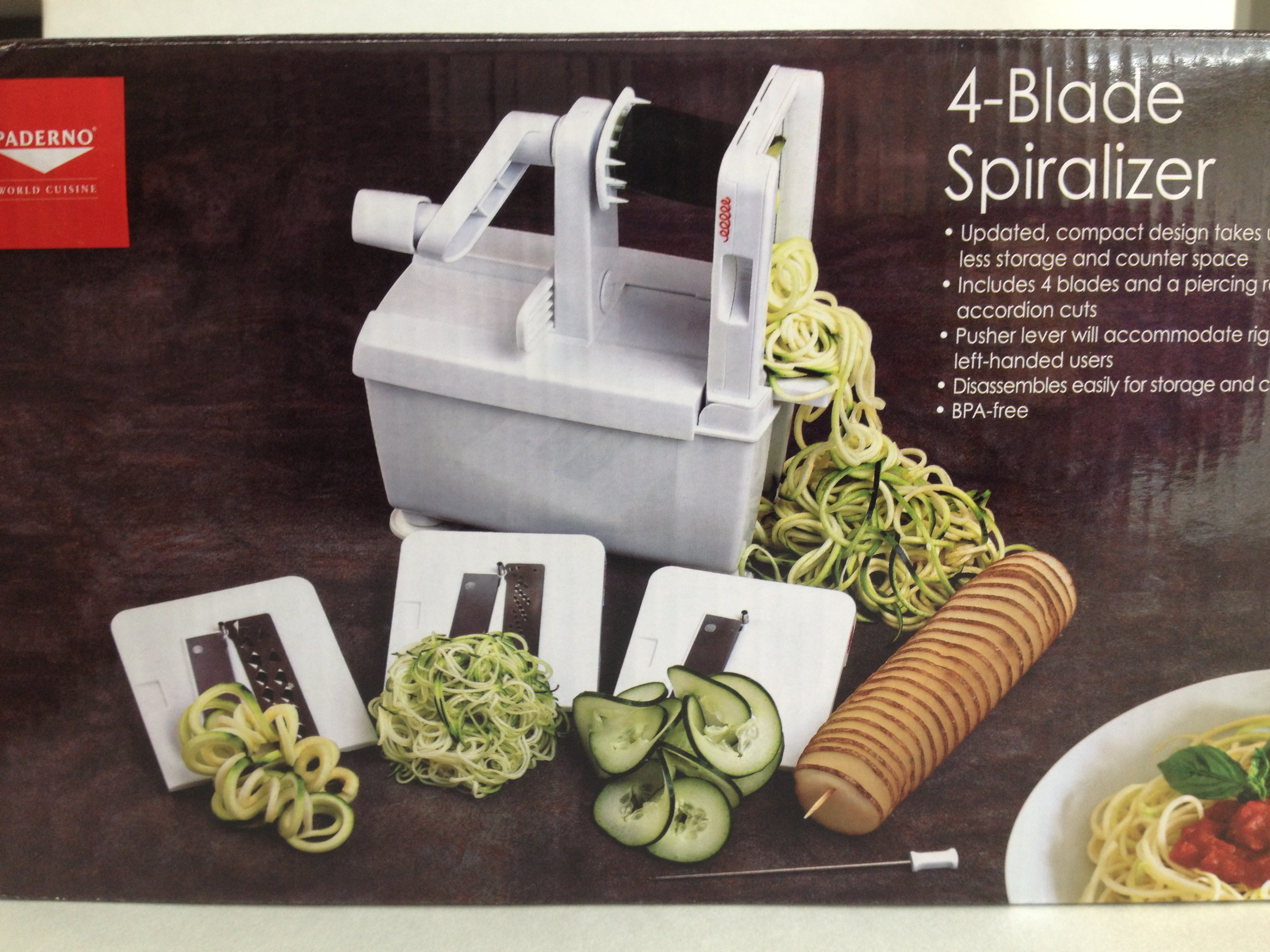 Paderno Vegetable Spiralizer Bed Bath And Beyond